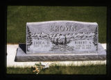 Lyola and Robert Brown headstone, Cody, Wyoming, 1997 (38 of 64)