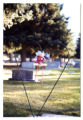 Wire heart grave decoration, Logan, Utah, 1999
