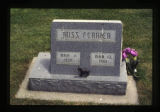 Russ Ferrier headstone and decorations, Cody, Wyoming, 1997
