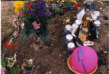 Max Turner beer and flowers grave decorations close-up, Salt Lake City, Utah, 2000 (14 of 16)