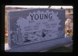 Ronald and Jana Young grave marker in Monticello, Utah, 1989
