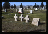 Grave markers, Butte, Montana, 1979 (3 of 10)