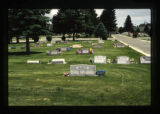 Baily headstone and cemetery view, Cody, Wyoming, 1997