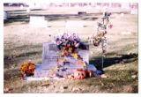Howard Johnson and Margaret Bernice headstone, Logan, Utah, 1999