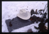 Charles H. Faulkner Jr. gravemarker with cowboy hat, Logan, Utah, 1999 (3 of 4)