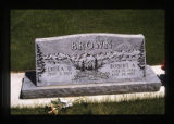 Lyola and Robert Brown headstone second view, Cody, Wyoming, 1997 (38 of 64)