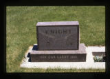 "Lawrence ""Larry"" Knight grave marker in Cody, Wyoming, 1997"