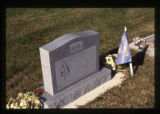 Thomas Charles Roe gravemarker and decorations, Smithfield, Utah, 1999 (2 of 2)