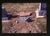 """Gone Hunting"" grave marker, Salt Lake City, Utah, 2000"