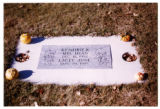 Mel Dean Kendrick and Lacey June Kendrick grave marker, Logan, Utah, 1999 (2 of 2)