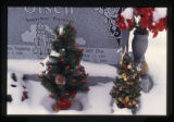 Kathy and Jeff Olsen headstone and Christmas grave decorations, Logan, Utah, 1999