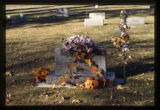 Howard and Margaret Johnson headstone and grave decorations, Logan, Utah, 1999