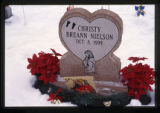 Christy Breann Nielson gravemarker and Christmas decorations, Logan, Utah, 1999.