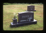 Olsen grave marker, Astoria, Oregon, 1982