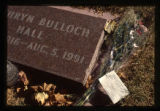 Kathryn Bulloch Hall headstone and grave decorations, Logan, Utah, 1999
