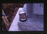 Malohifo'ou, Ana Taumutamu, and Tonga Poteki headstone and grave decorations, snowglobe, Salt Lake...