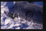 Catherine and Andrew Speth headstone and grave decorations, Providence, Utah, 2000