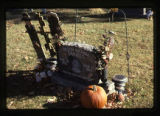 Dustin Michael Daniels gravemarker and fall decorations, front view, Logan, Utah, 1999 (1 of 2)