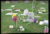 Kyleigh Maliene Ruedas gravemarker and Easter decorations, Logan, Utah, 2000 (1 of 2)