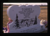 Heart-shaped grave marker in Monticello, Utah, 1989