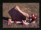 "Michael ""Tyler"" Richards headstone and grave decorations, Salt Lake City, Utah, 2000 (1..."