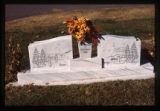 Grave marker with dual headstone, Logan, Utah, 1999