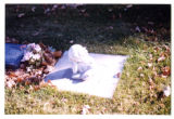 Girl reading a book grave decoration, Logan, Utah, 1999.