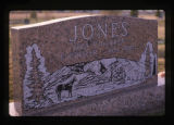 F Cooper Jones and Ada May Jones grave marker, Monticello, Utah, 1989