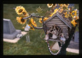 Penny Lee Schroeder bird house grave decoration, Ephraim, Utah, 1999 (1 of 2)