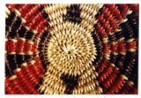 Navajo basket with ceremonial colors (2 of 4)