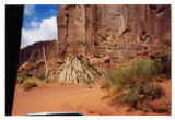 Navajo male hogan (old log structure), Monument Valley, 2001