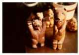 Wood Carvings by Waskey Walters, Alaska, 1985: Bears