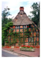 Thatched roof house in Bremen, Germany, 1995