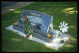Patty and Ronald Fenton grave marker in Smithfield, Utah, 1999 (2 of 2)