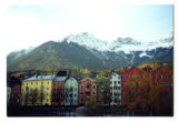 Apartment buildings along the river, Inn, Innsbruck, Austria, 2000