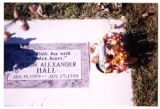 Jason Alexander Hall gravemarker and decorations, Logan, Utah, 1999.