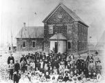 Providence, Utah, Schoolhouse and Student Body;