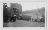 Military trucks at Jack London's house