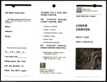 Various papers commenting on the Logan Canyon construction project, 1994