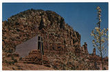Chapel of the Holy Cross, Sedona, Arizona, exterior front view, postcard