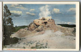 Dome Geyser postcard, Yellowstone National Park, 1912
