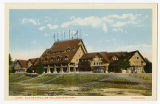 Old Faithful Inn postcard, Yellowstone Park, ca. 1920