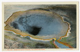 Morning Glory Spring postcard, Yellowstone Park, ca. 1920