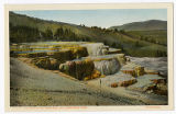 Mammoth Hot Springs postcard, Yellowstone Park, ca. 1920