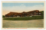 Grand Canyon Hotel entrance postcard, Yellowstone Park, ca. 1920