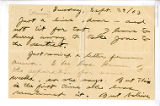Jack London letter to Charmian London, dated September 29, 1903