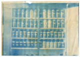 Fruit bottled by students stored in double columned shelving, ACU, 1901