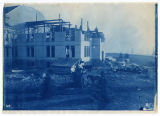 Construction of Old Main, West Wing, third and fourth floors, Spring 1916