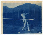 Track & Field, man swinging shot-put, 2 of 2, ACU, 1905