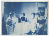 Group of female students sitting down to a meal, (duplicate), ACU, 1905